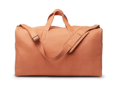nasire weekender in red ochre nubuck leather