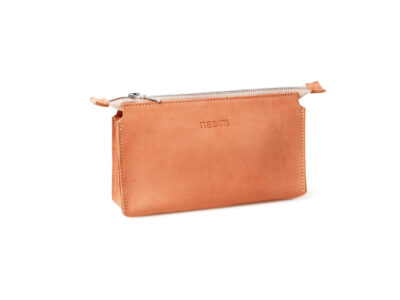 nasire essential pouch in red ochre nubuck leather