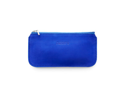 nasire mini pouch in blue majorelle nubuck leather