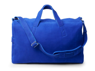 nasire overnighter in bleue majorelle nubuck leather