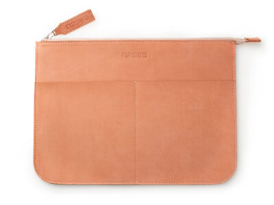 nasire laptopcase in red ochre nubuck leather
