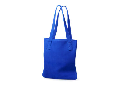 nasire tote in blue majorelle nubuck leather