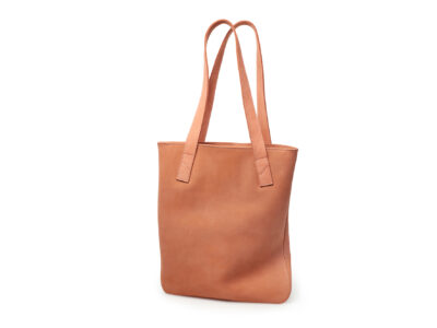 nasire tote in red ochre nubuck leather