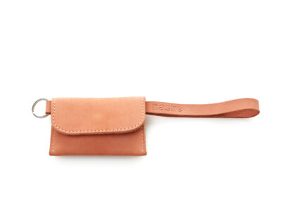 nasire short microwallet in red ochre nubuck leather