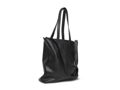 nasire shopper in black smooth leather