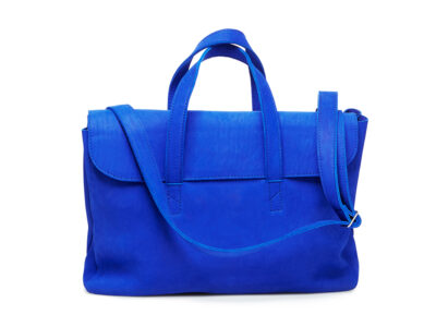 nasire business bag in blue majorelle nubuck leather