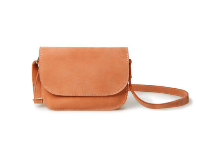 nasire handbag in red ochre nubuck leather