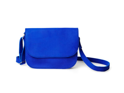 nasire handbag in blue majorelle nubuck leather