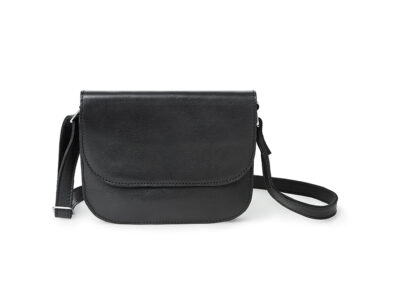 nasire handbag in black smooth leather