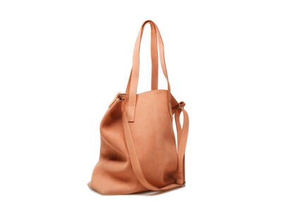 nasire shopper in red ochre nubuck leather